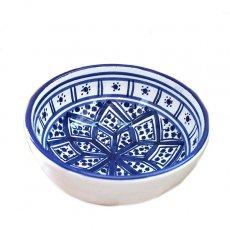 食器 / グラス / 陶器 チュニジア SLAMA製 手描き ミニボウル(ブルー 12cm)