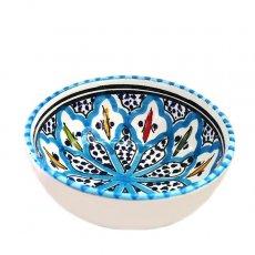 モロッコ・チュニジア 雑貨 チュニジア SLAMA製 手描き ミニボウル(ターコイズ 12cm)
