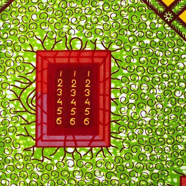 アフリカン プリント布 パーニュ 115×90 カットオフ(アルファベット)【画像3】