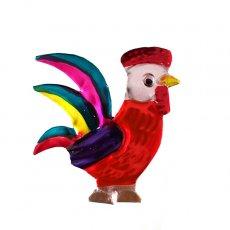トリ (鳥) 雑貨 メキシコ ブリキ マグネット(ニワトリ)