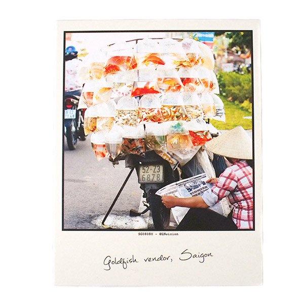 ベトナム ポストカード(gold fish vendor, Saigon サイゴンの金魚売り)