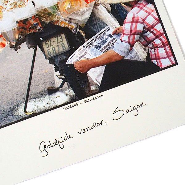 ベトナム ポストカード(gold fish vendor, Saigon サイゴンの金魚売り)【画像3】