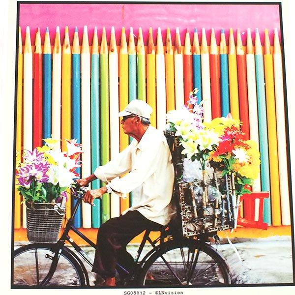 ベトナム ポストカード(お花売りのおじさん)【画像2】