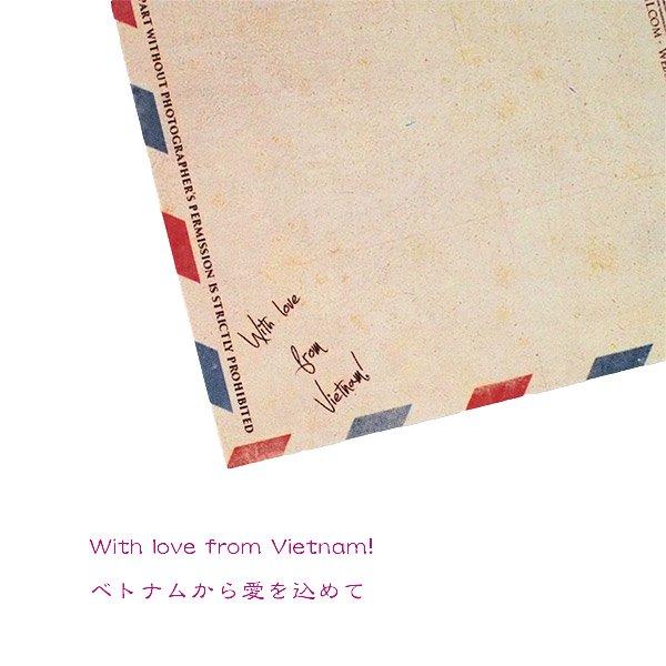 ベトナム ポストカード(お花売りのおじさん)【画像5】