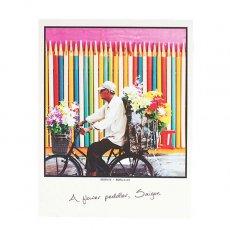 ポストカード / メッセージカード ベトナム ポストカード 【A flower peddler,Saigon サイゴンの花屋の行商人】