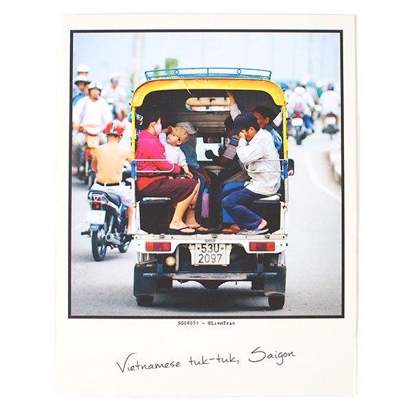 ベトナム ポストカード【Vietnamese tuk-tuk, Saigon】サイゴンのベトナム式トゥクトゥク