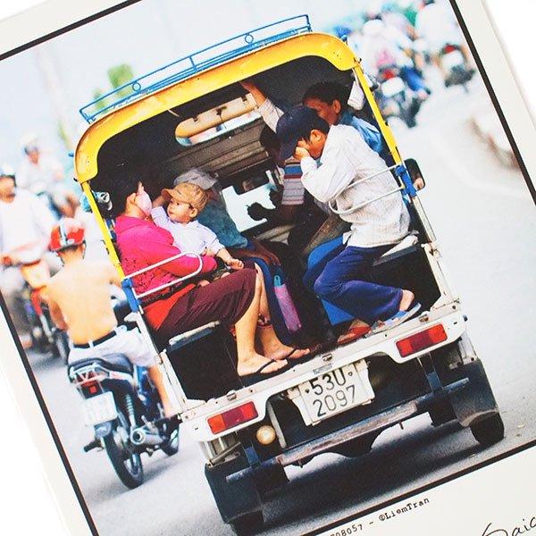 ベトナム ポストカード(tuk-tuk)
