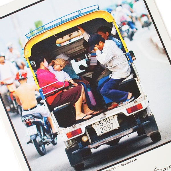 ベトナム ポストカード【Vietnamese tuk-tuk, Saigon】サイゴンのベトナム式トゥクトゥク【画像2】