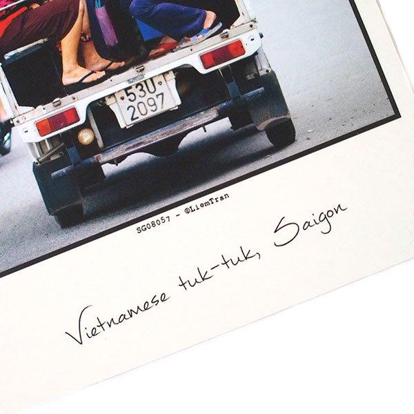 ベトナム ポストカード(Vietnamese tuk-tuk, Saigon サイゴンのベトナム式トゥクトゥク))【画像3】