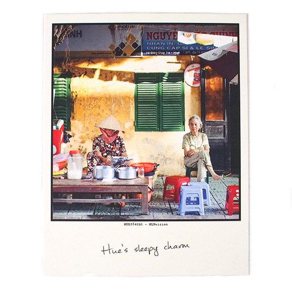 ベトナム ポストカード(眠そうなおばあちゃん)