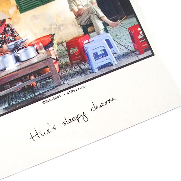 ベトナム ポストカード【フエの眠そうな人】Hue's sleepy charm【画像3】