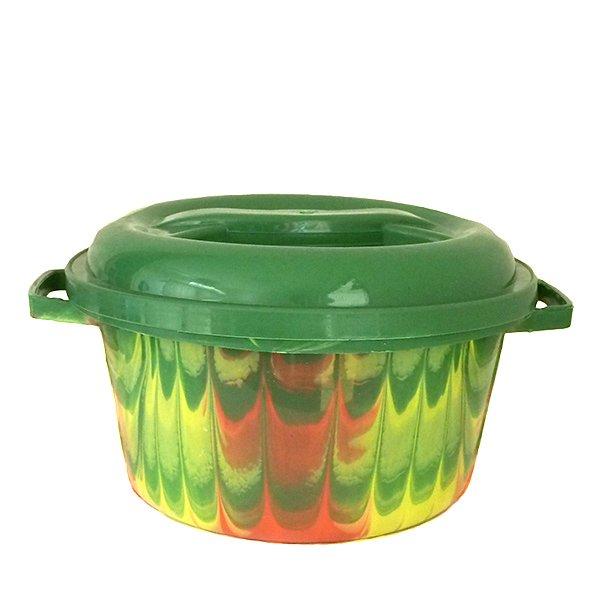セネガル プラスチック蓋付きの桶(グリーン)