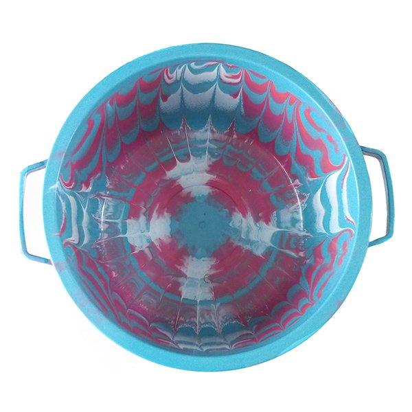 セネガル プラスチック蓋付きの桶(ブルー)【画像3】
