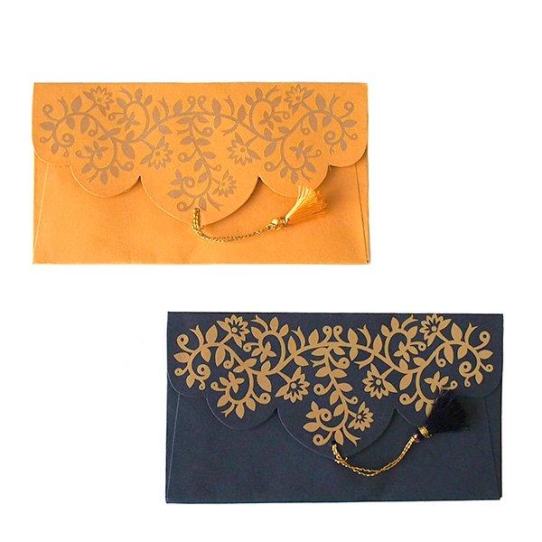 インド chimanlals(チマンラール)の封筒 ツルクサB【画像2】