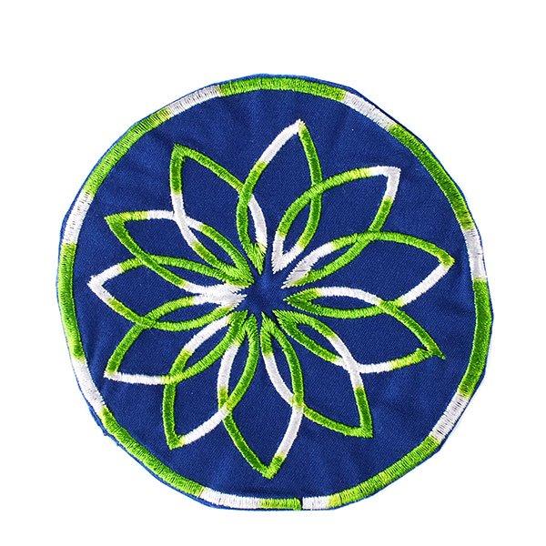 ベトナム 花 刺繍 コースター(ネイビー)【画像3】