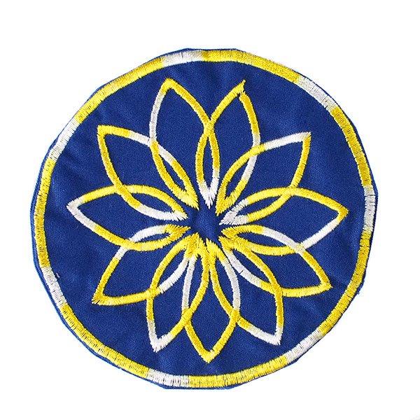 ベトナム 花 刺繍 コースター(ネイビー)【画像4】