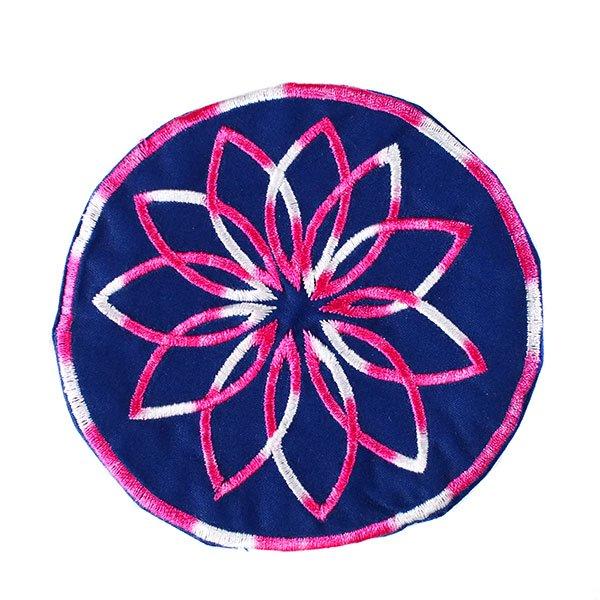 ベトナム 花 刺繍 コースター(ネイビー)【画像5】