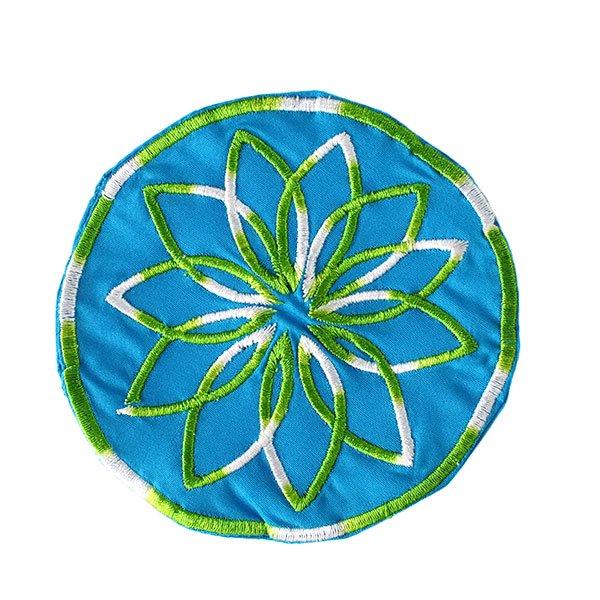 ベトナム 花 刺繍 コースター(ネイビー)【画像7】