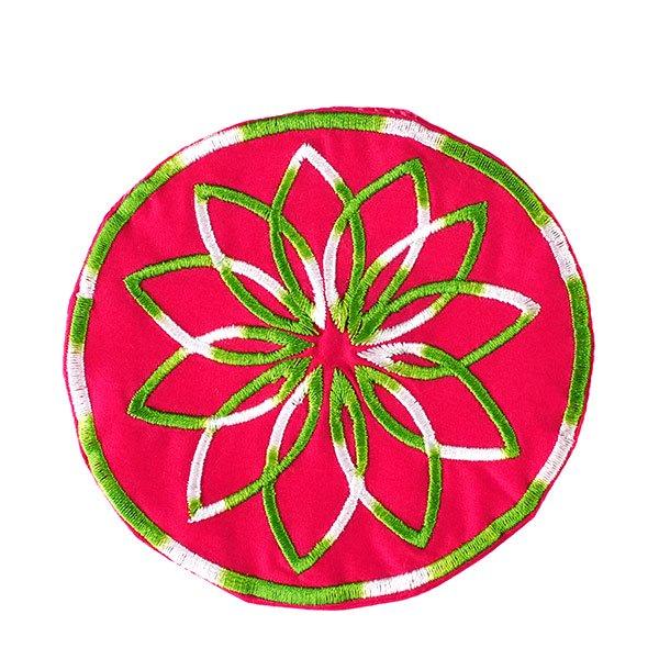 ベトナム 刺繍コースター(ピンク・ホワイト)【画像4】