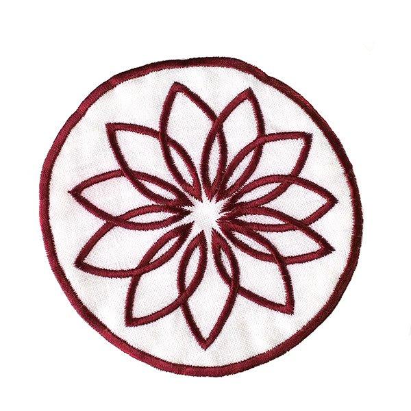 ベトナム 刺繍コースター(ピンク・ホワイト)【画像5】