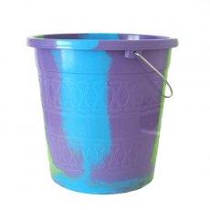 バケツ・桶 セネガル プラスチックバケツ(パープル 5リットル)