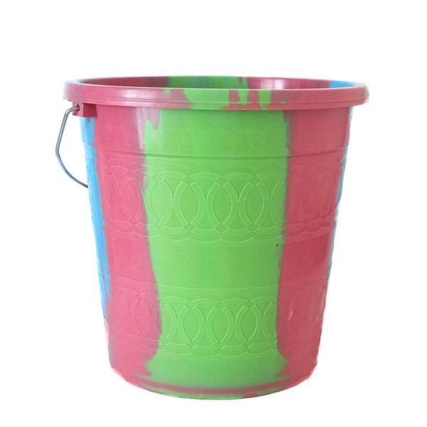 セネガル プラスチックバケツ(ピンク2  5リットル)【画像2】
