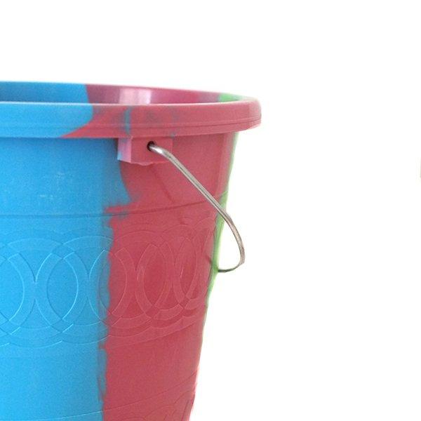 セネガル プラスチックバケツ(ピンク2  5リットル)【画像4】