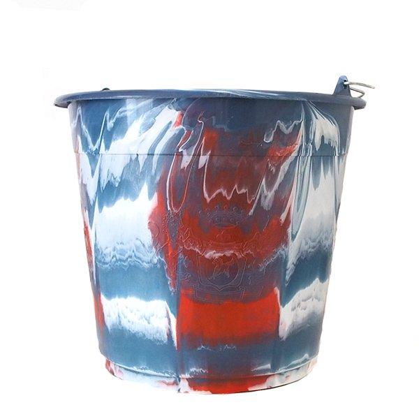 セネガル プラスチックバケツ(グレイ 10リットル)