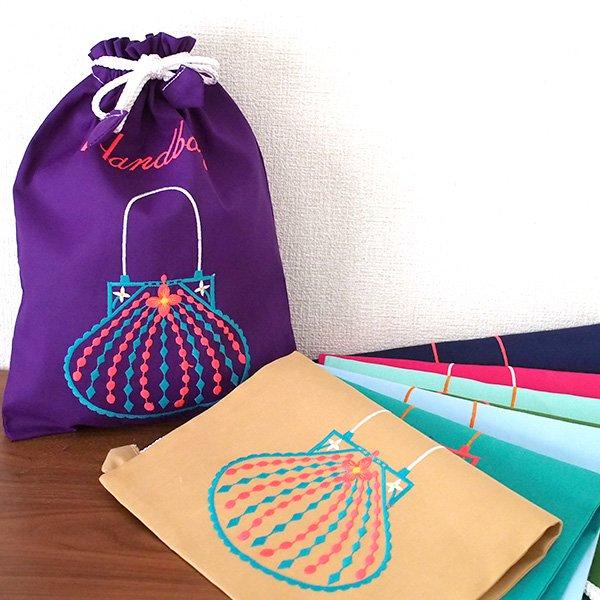 ベトナム 刺繍 巾着(Hand bag)