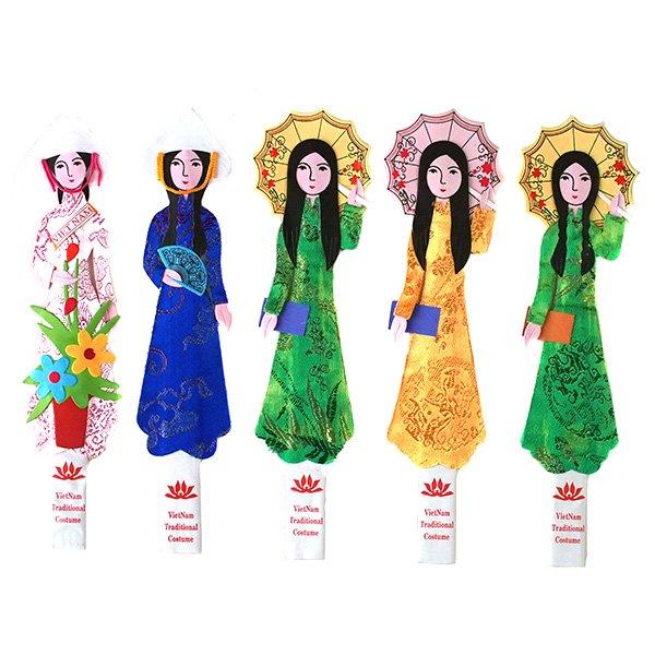 ベトナム アオザイ女の子のしおり
