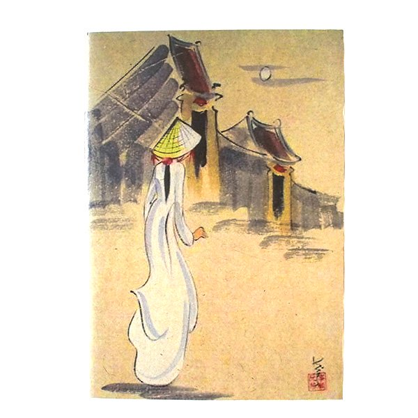 ベトナム ミニノート(アオザイの女の子)【画像4】