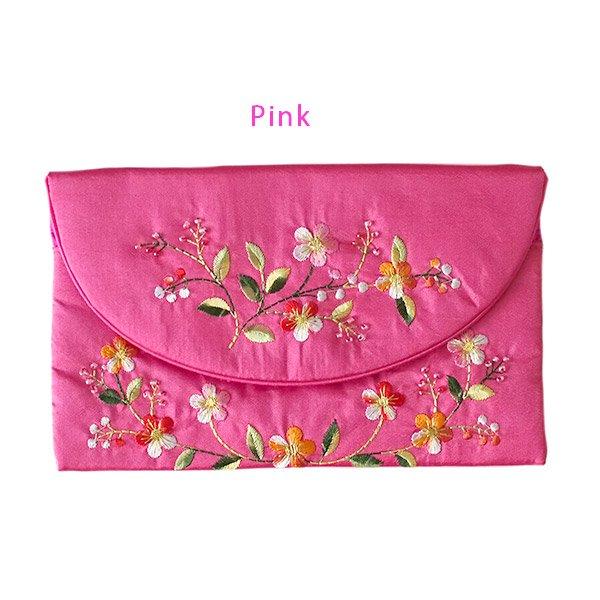ベトナム 刺繍 シルクのお財布(お花A-2)【画像2】