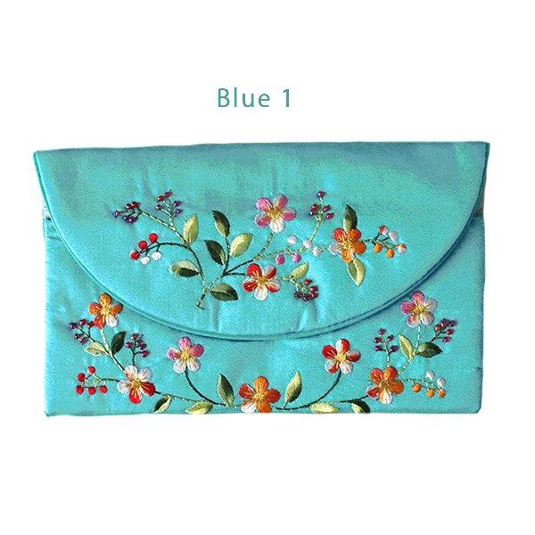 ベトナム 刺繍 シルクのお財布(お花A-2)【画像3】