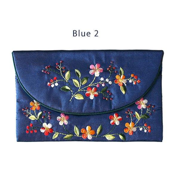 ベトナム 刺繍 シルクのお財布(お花A-2)【画像4】