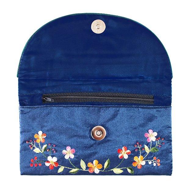 ベトナム 刺繍 シルクのお財布(お花A-2)【画像6】