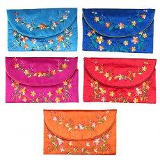 ベトナム 刺繍 シルクのお財布(お花B)