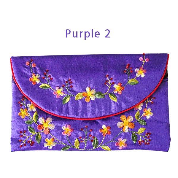 ベトナム 刺繍 シルクのお財布(お花B-2)【画像3】
