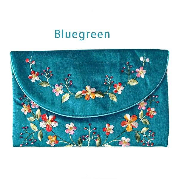 ベトナム 刺繍 シルクのお財布(お花B-2)【画像4】