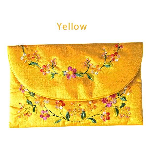 ベトナム 刺繍 シルクのお財布(お花B-2)【画像5】
