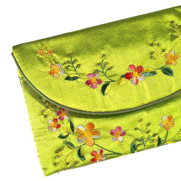 ベトナム 花 刺繍ポーチ 財布(B-2)【画像7】
