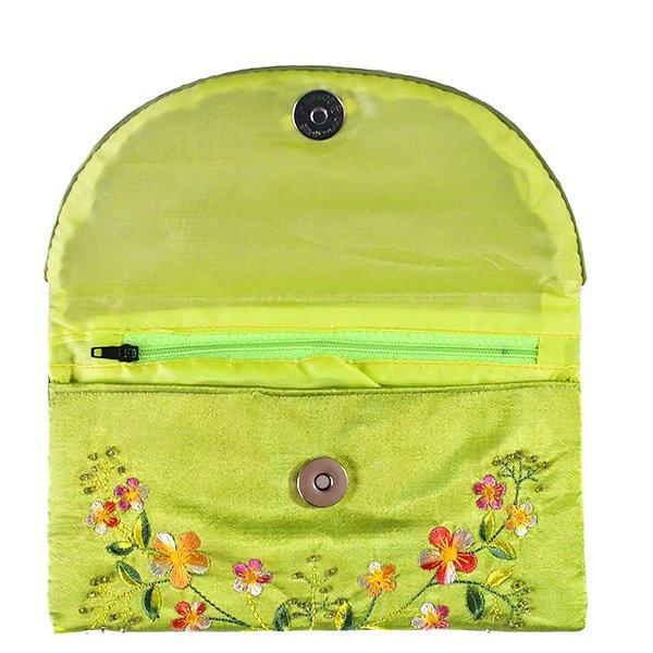 ベトナム 刺繍 シルクのお財布(お花B-2)【画像8】