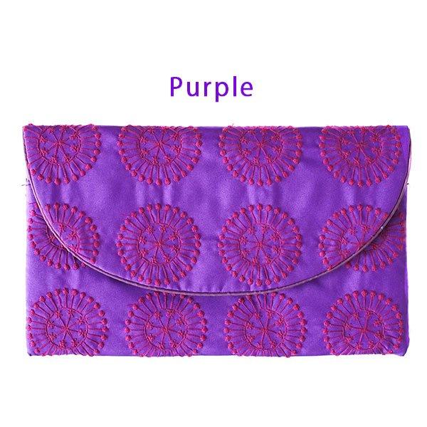 ベトナム 刺繍ポーチ 財布(シルク 模様)【画像4】