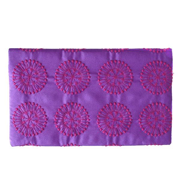ベトナム 刺繍ポーチ 財布(シルク 模様)【画像7】
