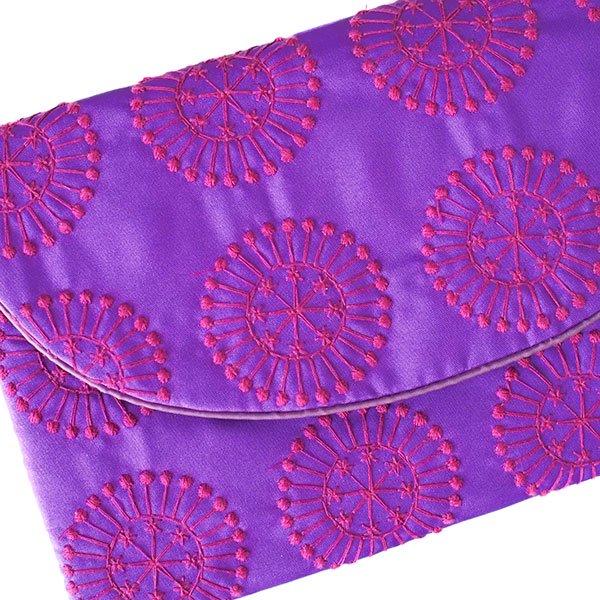 ベトナム 刺繍ポーチ 財布(シルク 模様)【画像8】