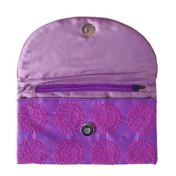 ベトナム 刺繍ポーチ 財布(シルク 模様)【画像9】