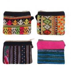 ベトナム 少数民族 モン族 刺繍 ミニポーチ(4種) / 民族 刺繍 / ベトナム直輸入