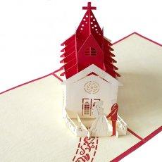 切り絵 ポップアップカード ベトナム 切り絵 ポップアップカード(結婚式 15.5×15)