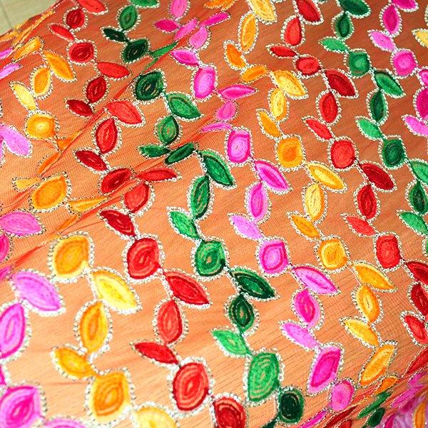 インド スパンコールのメッシュ生地(50cm切り売り)