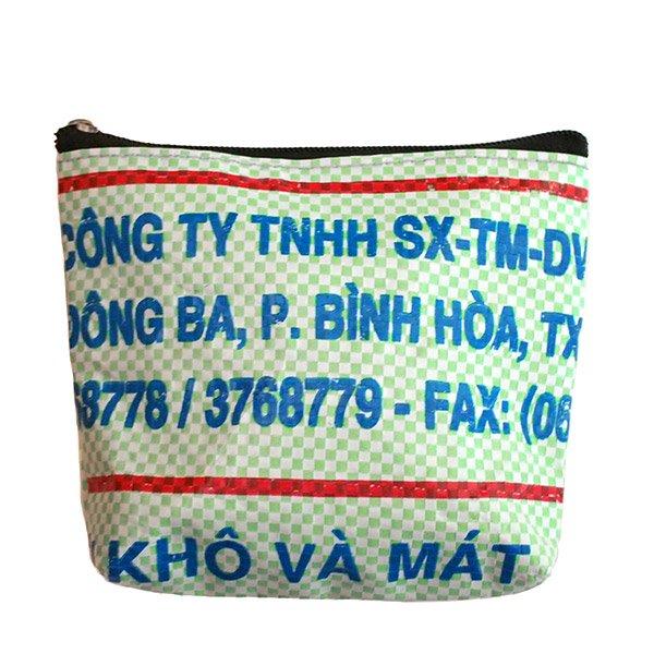 ベトナム 飼料袋 リメイク ポーチ(魚)【画像2】