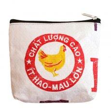 飼料袋リメイク ベトナム 飼料袋 リメイク ポーチ(ニワトリ)